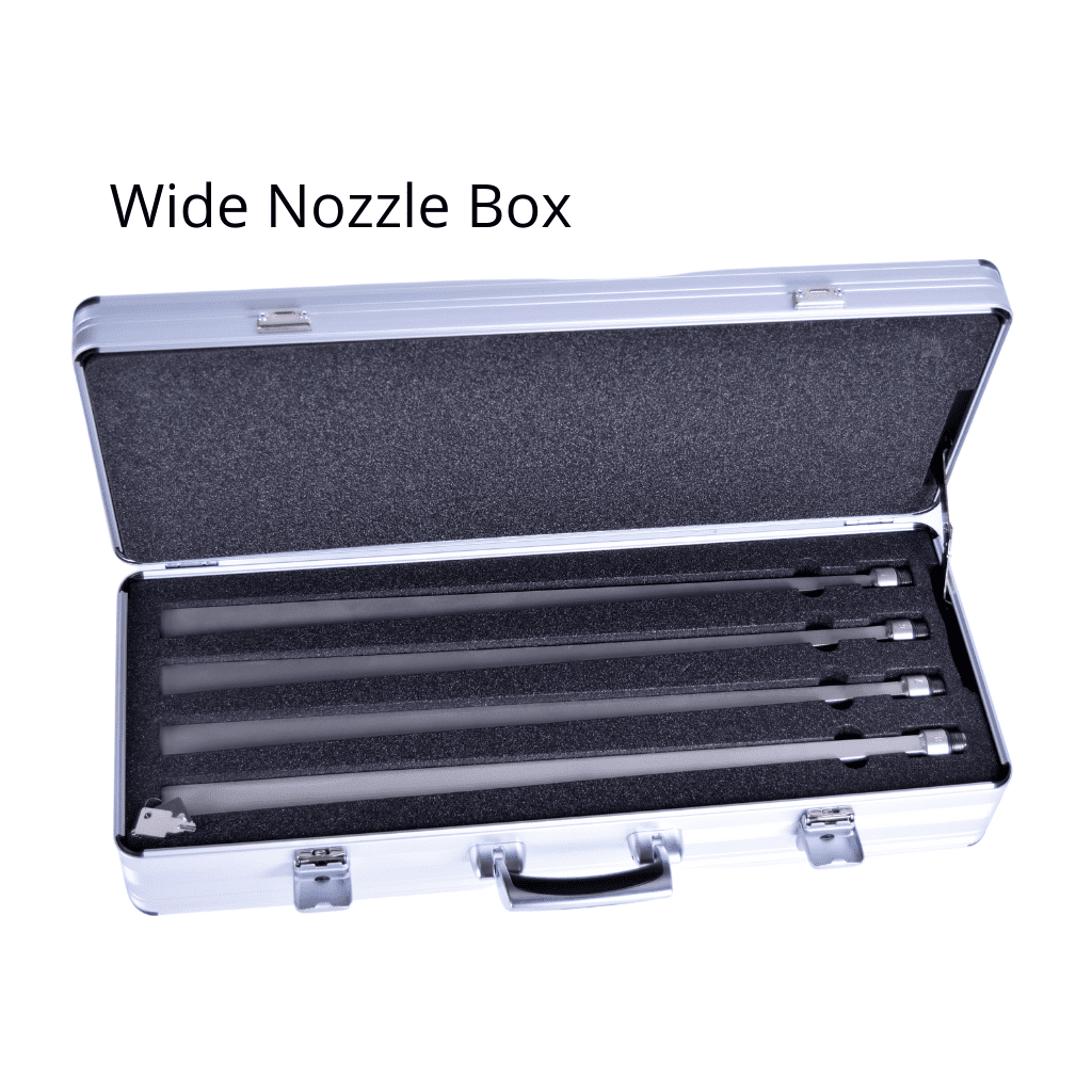Wide Nozzle Box for dry ice blasters